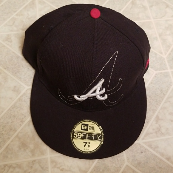 a6ead82e32a aliexpress black atlanta braves hat 08260 5a157